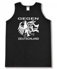 """Zum Man Tanktop """"Gegen Deutschland"""" für 12,00 € gehen."""