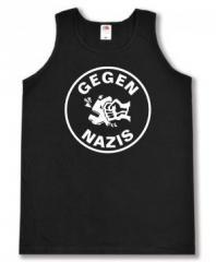 """Zum Man Tanktop """"Gegen Nazis (rund)"""" für 12,00 € gehen."""