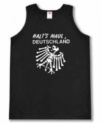 """Zum Tanktop """"Halt's Maul Deutschland (weiß)"""" für 12,00 € gehen."""