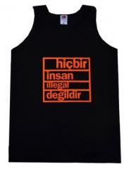 "Zum Man Tanktop ""hicbir insan illegal degildir"" für 12,00 € gehen."