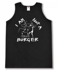 """Zum Man Tanktop """"I am not a burger"""" für 12,00 € gehen."""