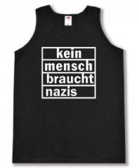 """Zum Tanktop """"kein mensch braucht nazis"""" für 12,00 € gehen."""