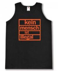 """Zum Tanktop """"Kein Mensch ist illegal (orange)"""" für 12,00 € gehen."""