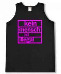 """Zum Man Tanktop """"Kein Mensch ist illegal (pink)"""" für 12,00 € gehen."""