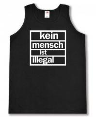 """Zum Man Tanktop """"kein mensch ist illegal"""" für 12,00 € gehen."""