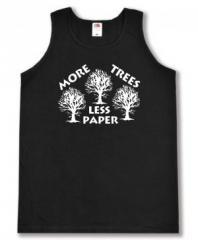 """Zum Man Tanktop """"More Trees - Less Paper"""" für 12,00 € gehen."""