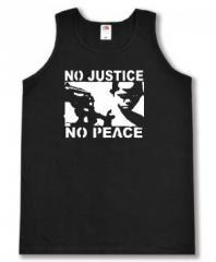 """Zum Tanktop """"No Justice - No Peace"""" für 11,70 € gehen."""