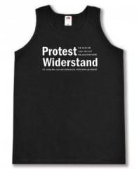 """Zum Man Tanktop """"Protest ist, wenn ich sage, das und das passt mir nicht. Widerstand ist, wenn das, was mir nicht passt, nicht mehr geschieht."""" für 12,00 € gehen."""