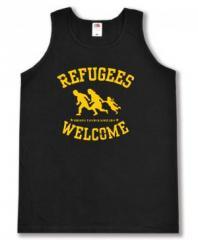 """Zum Tanktop """"Refugees welcome"""" für 12,00 € gehen."""