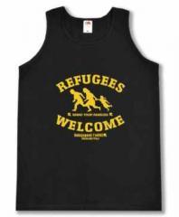 """Zum Tanktop """"Refugees welcome Linksjugend"""" für 16,00 € gehen."""