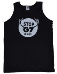 """Zum Man Tanktop """"Stop G7 Elmau"""" für 12,00 € gehen."""