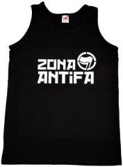 """Zum Man Tanktop """"Zona Antifa"""" für 12,00 € gehen."""