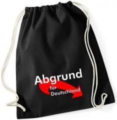 """Zum Sportbeutel """"Abgrund für Deutschland"""" für 7,80 € gehen."""