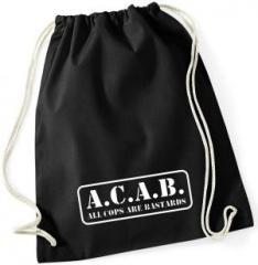 "Zum Sportbeutel ""A.C.A.B. - All cops are bastards"" für 7,80 € gehen."