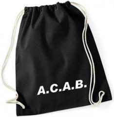 """Zum Sportbeutel """"A.C.A.B."""" für 8,00 € gehen."""