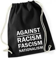 """Zum Sportbeutel """"Against Racism, Fascism, Nationalism"""" für 8,00 € gehen."""