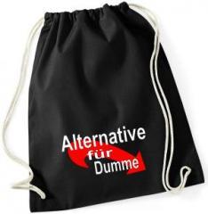 """Zum Sportbeutel """"Alternative für Dumme"""" für 8,00 € gehen."""
