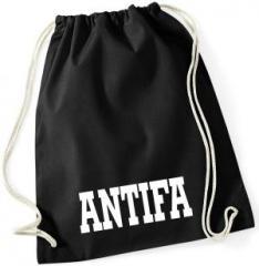 """Zum Sportbeutel """"Antifa Schriftzug"""" für 8,00 € gehen."""
