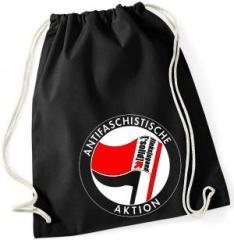 """Zum Sportbeutel """"Antifaschistische Aktion - linksjugend [´solid]"""" für 11,00 € gehen."""