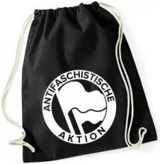"""Zum Sportbeutel """"Antifaschistische Aktion (Original von 1932 in weiß)"""" für 7,80 € gehen."""