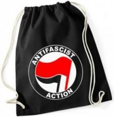 """Zum Sportbeutel """"Antifascist Action (rot/schwarz)"""" für 8,00 € gehen."""