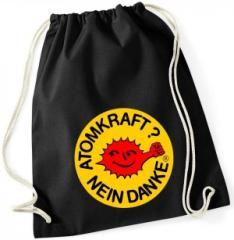 """Zum Sportbeutel """"Atomkraft? Nein Danke - mit Faust"""" für 7,80 € gehen."""