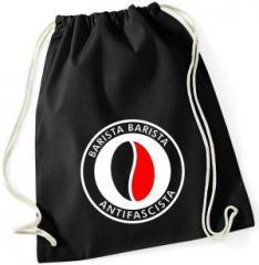 """Zum Sportbeutel """"Barista Barista Antifascista (Bohne)"""" für 8,00 € gehen."""