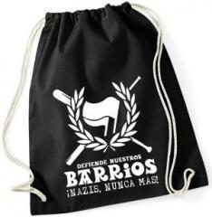 """Zum Sportbeutel """"Defiende nuestros Barrios"""" für 7,80 € gehen."""
