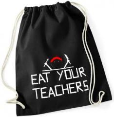 """Zum Sportbeutel """"Eat your teachers"""" für 11,00 € gehen."""