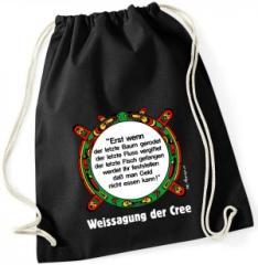 """Zum Sportbeutel """"Erst wenn der letzte Baum gerodet...."""" für 9,26 € gehen."""