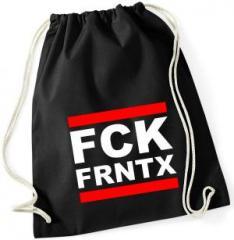 """Zum Sportbeutel """"FCK FRNTX"""" für 7,80 € gehen."""