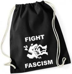 """Zum Sportbeutel """"Fight Fascism"""" für 7,80 € gehen."""