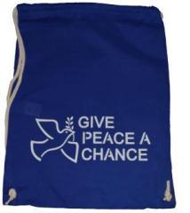 "Zum Sportbeutel ""Give peace a chance"" für 8,00 € gehen."