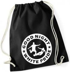 """Zum Sportbeutel """"Good night white pride - Fußball"""" für 8,00 € gehen."""