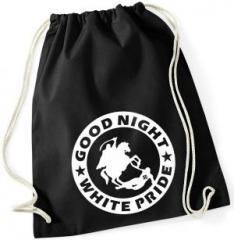 """Zum Sportbeutel """"Good night white pride - Reiter"""" für 8,00 € gehen."""