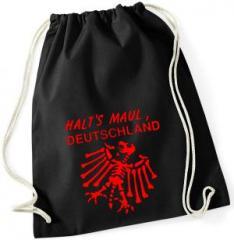 """Zum Sportbeutel """"Halt's Maul Deutschland"""" für 8,00 € gehen."""