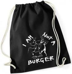 """Zum Sportbeutel """"I am not a burger"""" für 7,80 € gehen."""