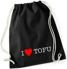 """Zum Sportbeutel """"I love Tofu"""" für 7,80 € gehen."""