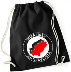 """Zum Sportbeutel """"Ibiza Ibiza Antifascista"""" für 7,80 € gehen."""