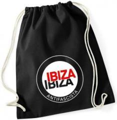 """Zum Sportbeutel """"Ibiza Ibiza Antifascista (Schrift)"""" für 7,80 € gehen."""