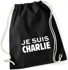 """Zum Sportbeutel """"Je suis Charlie"""" für 8,00 € gehen."""