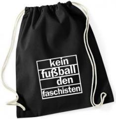 """Zum Sportbeutel """"Kein Fußball den Faschisten"""" für 7,80 € gehen."""