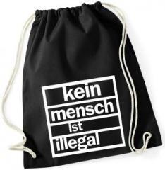 """Zum Sportbeutel """"kein mensch ist illegal"""" für 7,80 € gehen."""