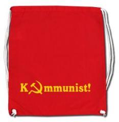 """Zum Sportbeutel """"Kommunist!"""" für 8,00 € gehen."""