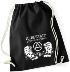 """Zum Sportbeutel """"Libertad presos obreros!"""" für 7,80 € gehen."""