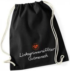 """Zum Sportbeutel """"Linksgrün versiffter Gutmensch (ZIVD)"""" für 9,75 € gehen."""
