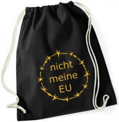 """Zum Sportbeutel """"nicht meine EU"""" für 8,00 € gehen."""