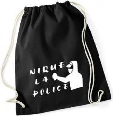 """Zum Sportbeutel """"Nique la Police"""" für 8,00 € gehen."""
