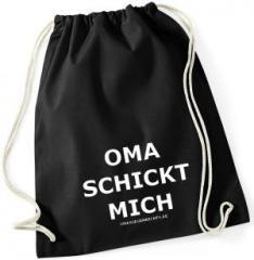"""Zum Sportbeutel """"Oma schickt mich"""" für 8,00 € gehen."""