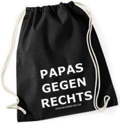 """Zum Sportbeutel """"Papas gegen Rechts"""" für 8,00 € gehen."""